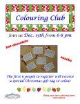 Cindy's Dec Colour Club Poster