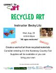 Poster for recycled art 2018