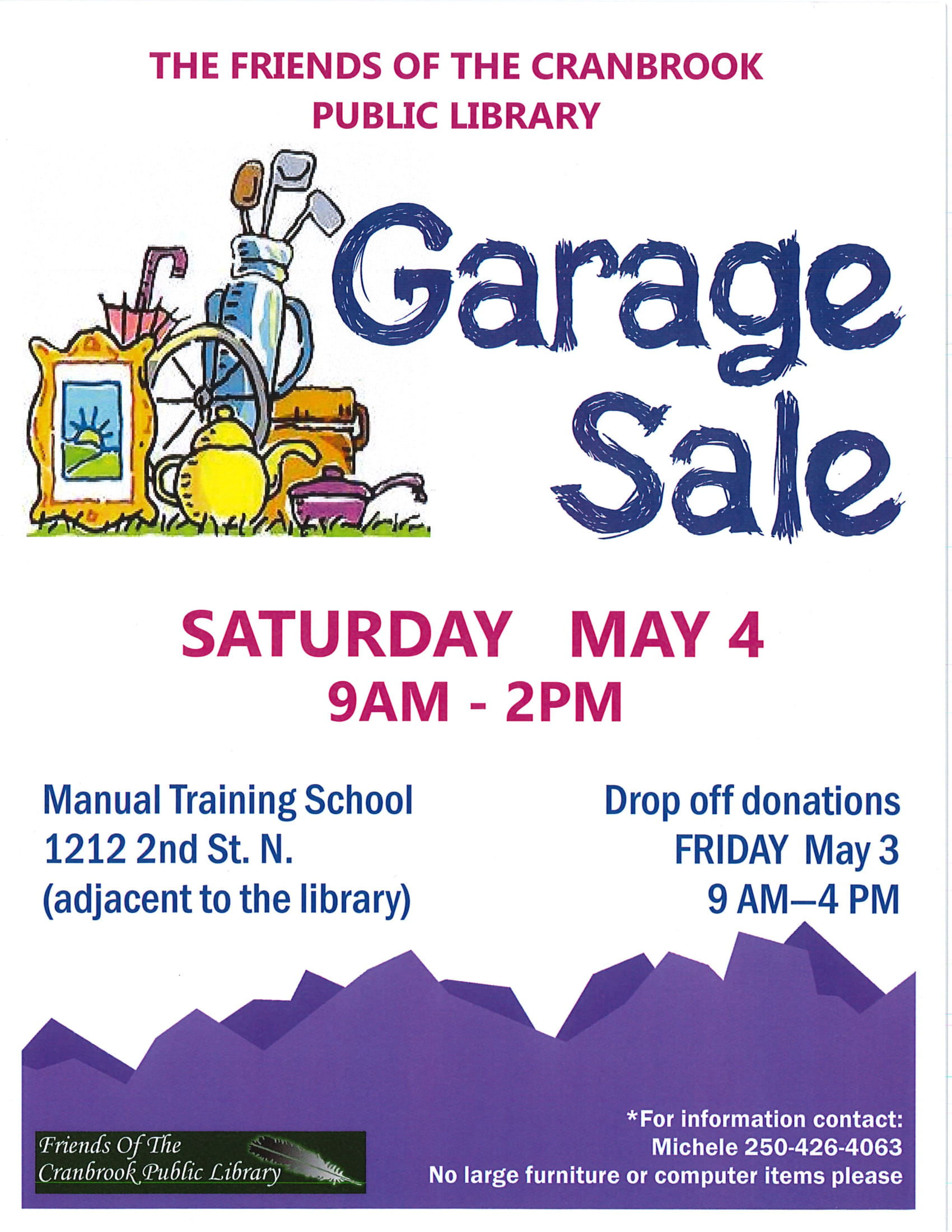Friends of the Library Garage Sale @ Manual Training School