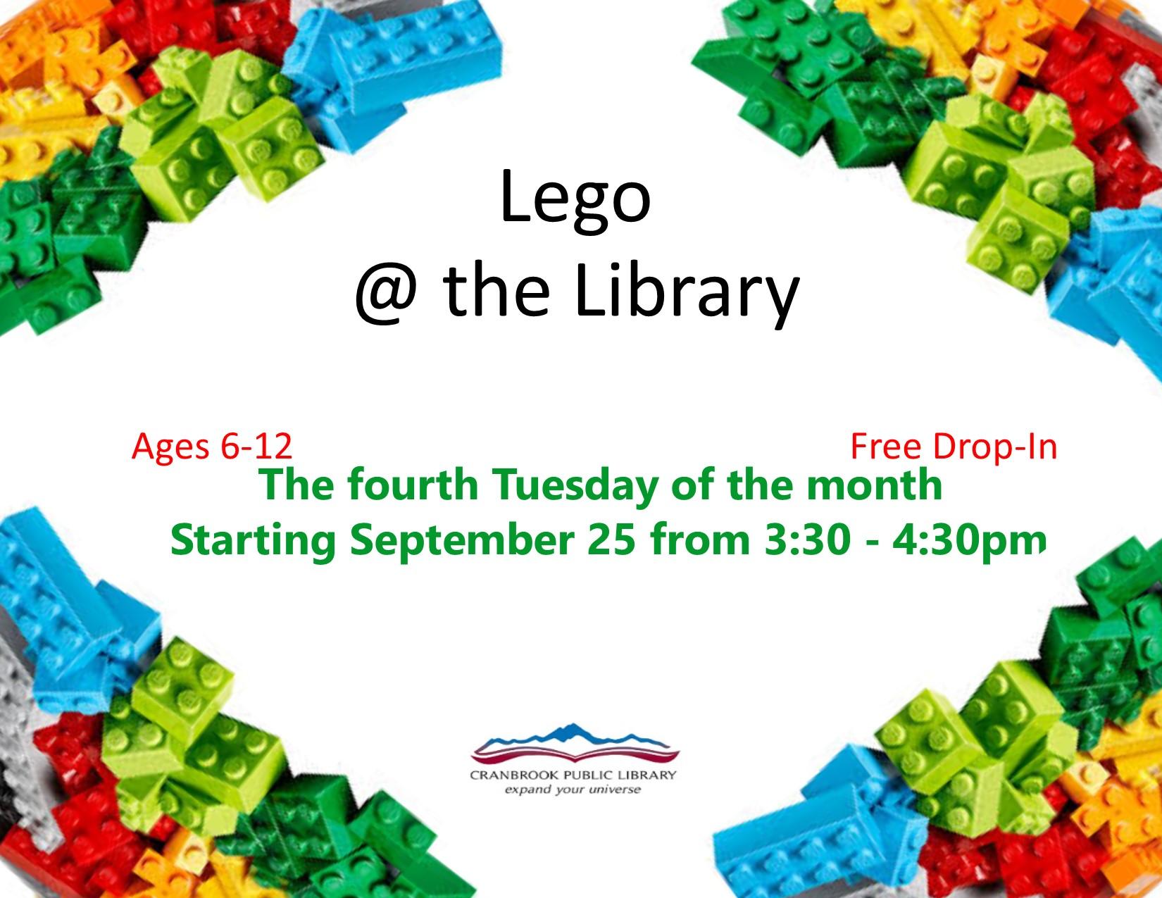 Lego Club @ Cranbrook Public Library