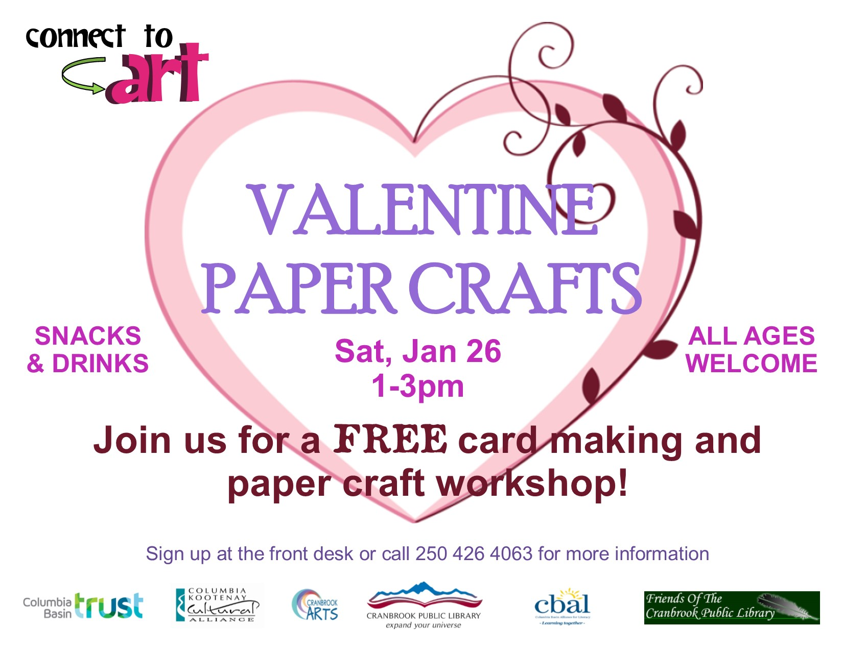 Connect to Art - Paper Craft Workshop @ Cranbroook Public Library