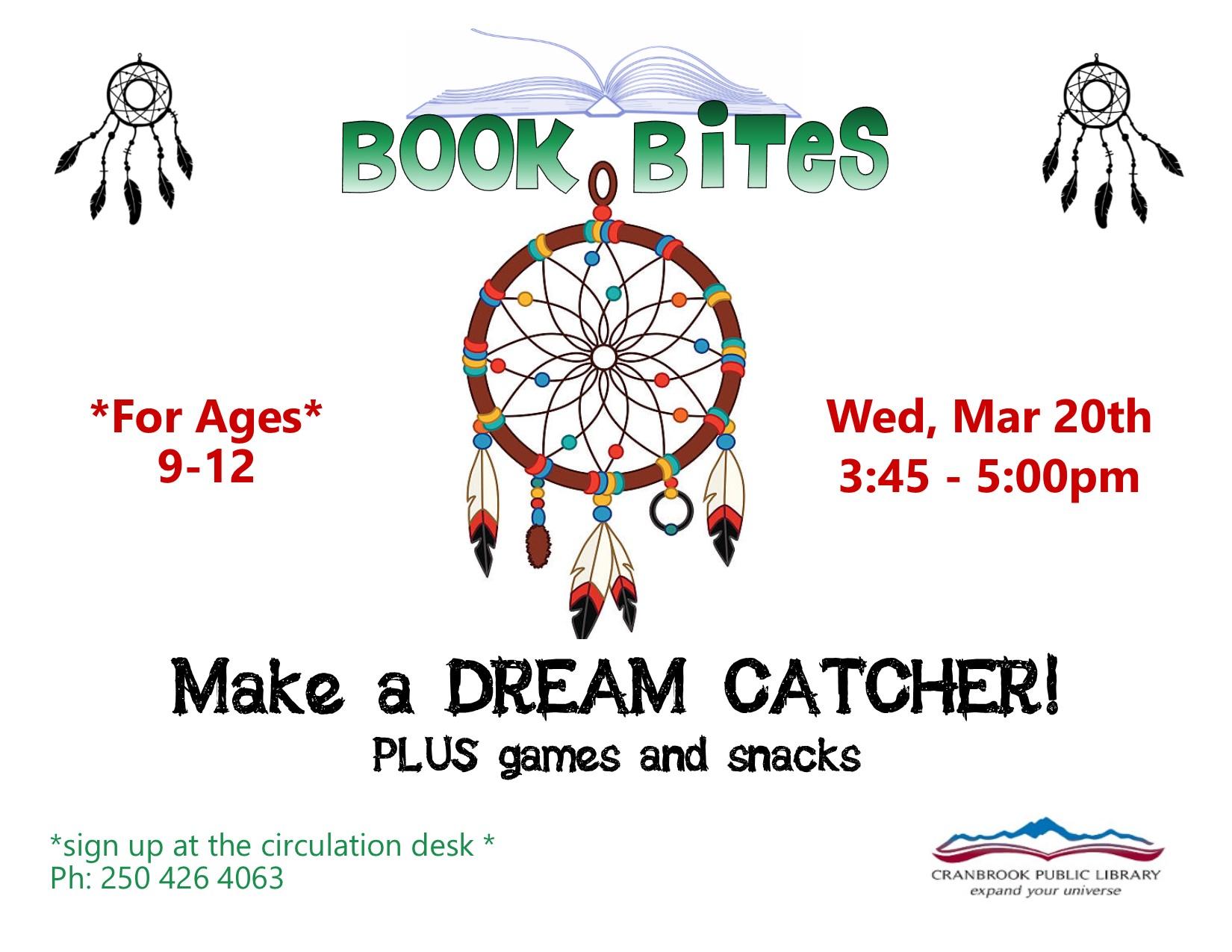 Book Bites: Make a Dream Catcher @ Cranbrook Public Library