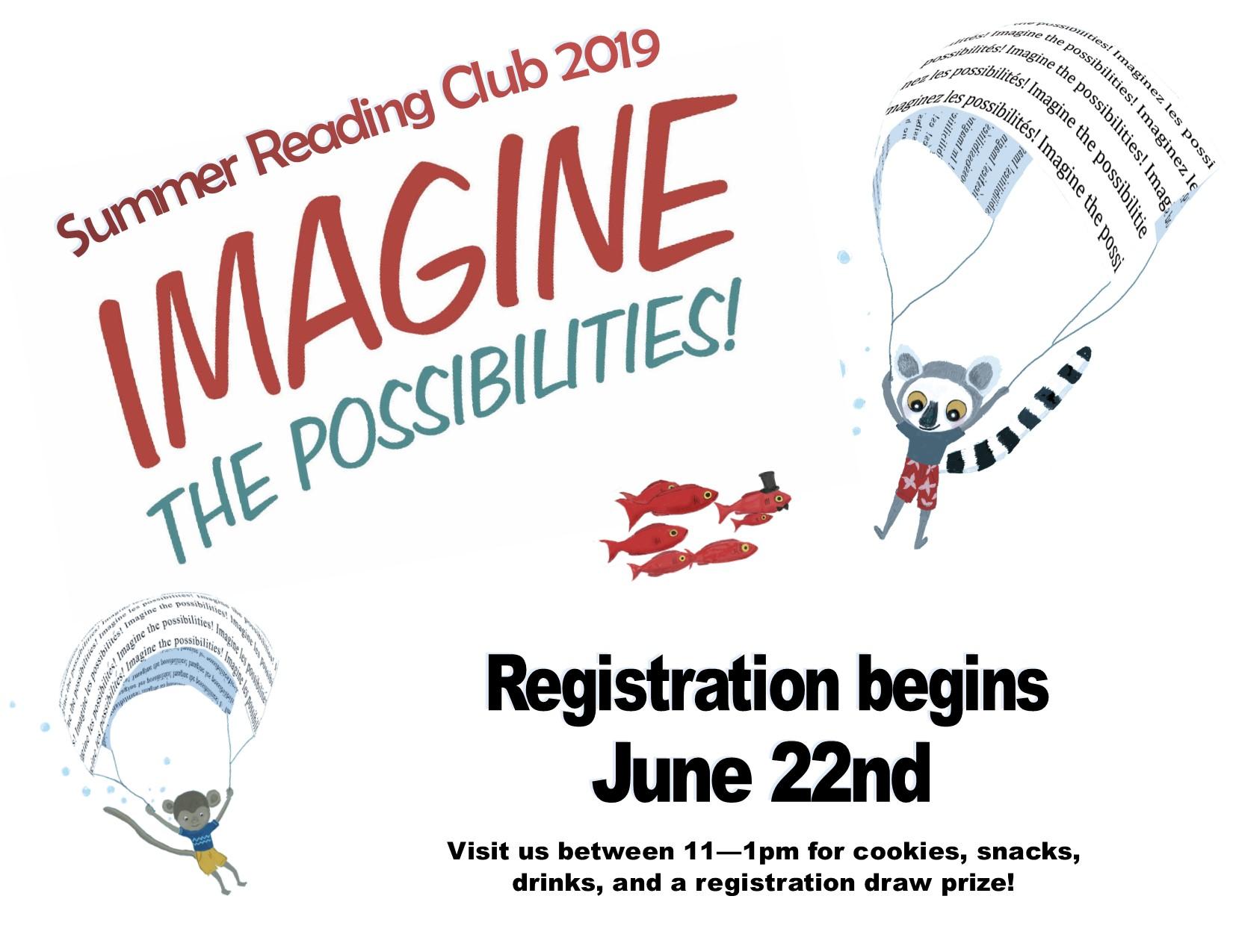 Summer Reading Club Registration Day @ Cranbrook Public Library Children's area