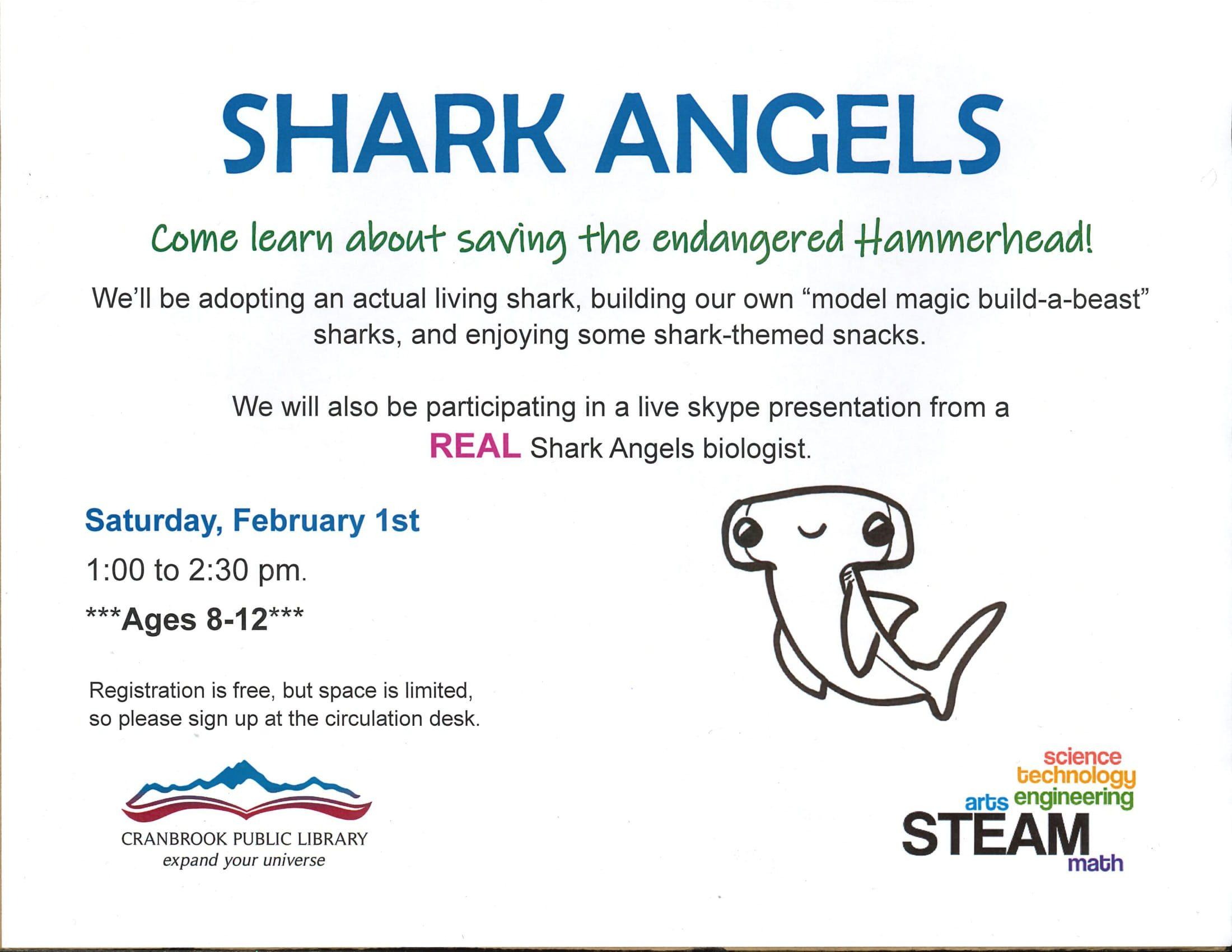 Shark Angels @ Cranbrook Public Library Manual Training Room