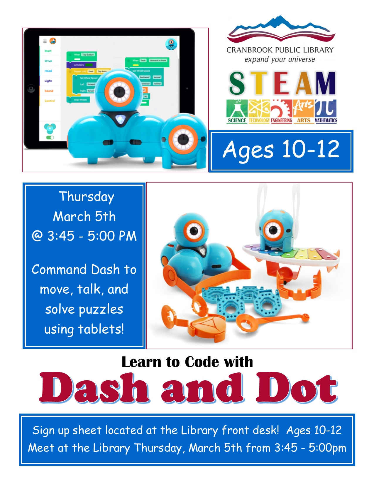 Dash And Dot @ Cranbrook Public Library