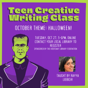 Creative Writing Class for Teens! (Ages 13 -18) @ Virtual/Online