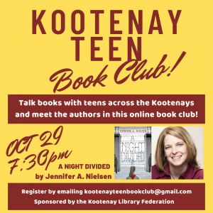 Kootenay Teen Book Club @ Online Event