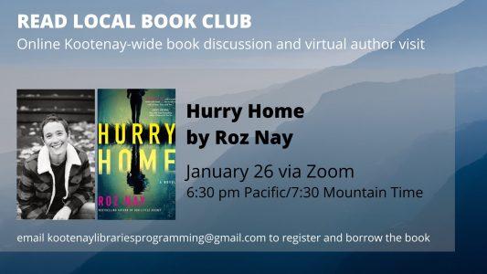 Read Local Book Club - Meet Roz Nay! @ Virtual/Online