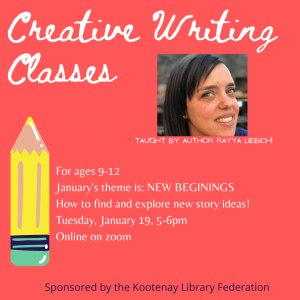 Creative Writing Class for Kids! (Ages 9-12) @ Virtual/Online