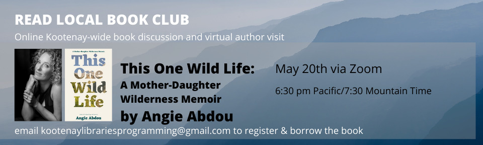 Read Local website Banner This One Wild Life by Angie Abdou