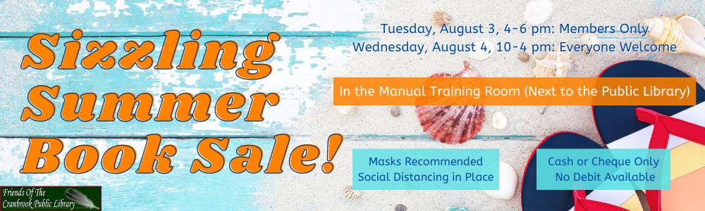 Sizzling Summer Book Sale Web Banner